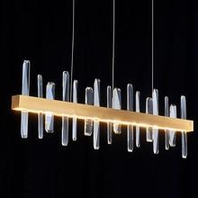 K9 크리스탈 럭셔리 LED 샹들리에 조명 거실 레스토랑 바 샹들리에 30W 40W 골드 포스트 모던 아트 교수형 램프