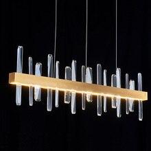 Lámpara colgante de arte posmoderno dorado, iluminación LED de araña K9 de lujo para sala de estar, restaurante, Bar, 30W, 40W