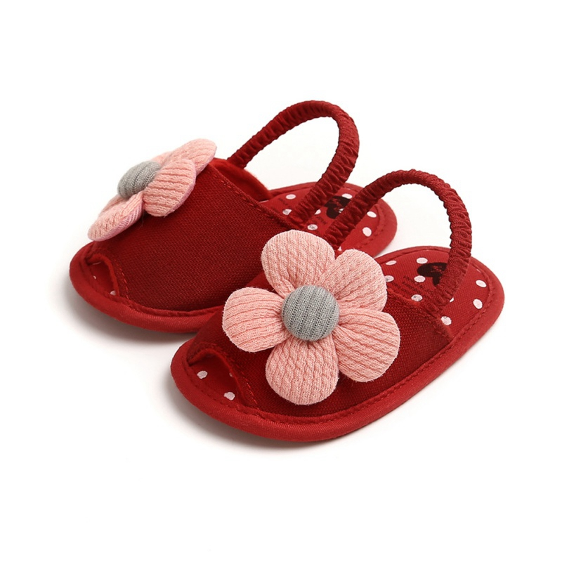 Summer Baby Boys Girls Sandals Cute Flower Breathable Anti-Slip Shoe Toddler Soft Soled First Walkers Casual Shoes 12
