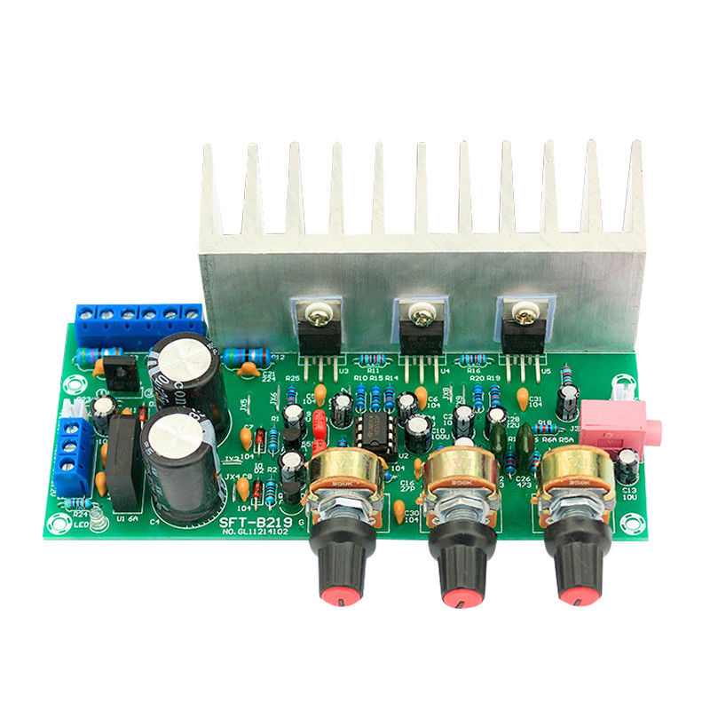 AMS-2.1-Ch Bass Subwoofer Tda2050+<font><b>Tda2030</b></font> Digital Audio <font><b>Amplifier</b></font> Board 18W+18W+32W image