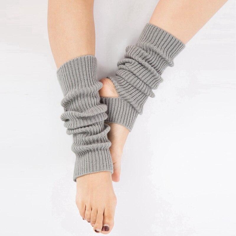 Multi-colors Kids Knee High Socks For Women Girls Workout Toeless Training Dance Leg Warmers