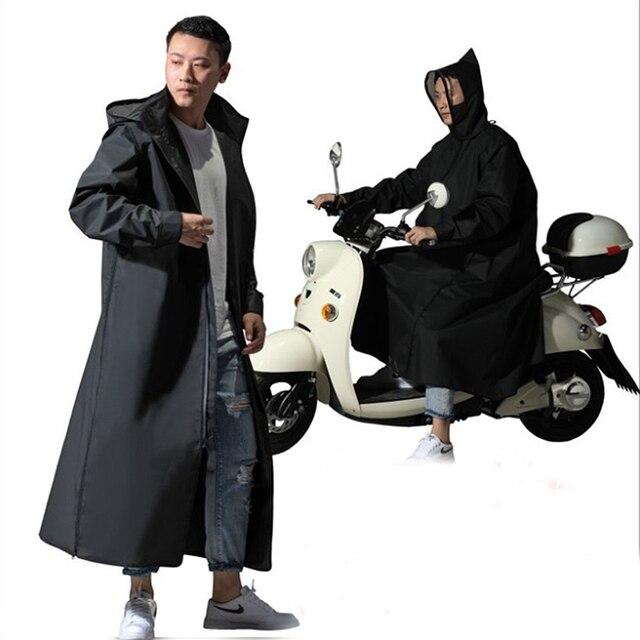 Gorąca sprzedaż EVA płaszcz przeciwdeszczowy kobiety/mężczyźni zamek z kapturem Poncho motocykl odzież przeciwdeszczowa długi styl piesze wycieczki Poncho środowiska kurtka przeciwdeszczowa