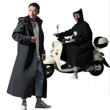 Hot Sale EVA Raincoat Women/Men Zipper Hooded Poncho Motorcycle Rainwear Long Style Hiking Poncho Environmental Rain Jacket