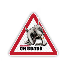 12cm x 11cm creative bullterrier dog pet warning sign car sticker