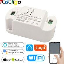 Tedeligo Tuya Smart Life Wifi Switch AC 90-250V Controller luce interruttore universale modulo Timer telecomando Wireless per luce