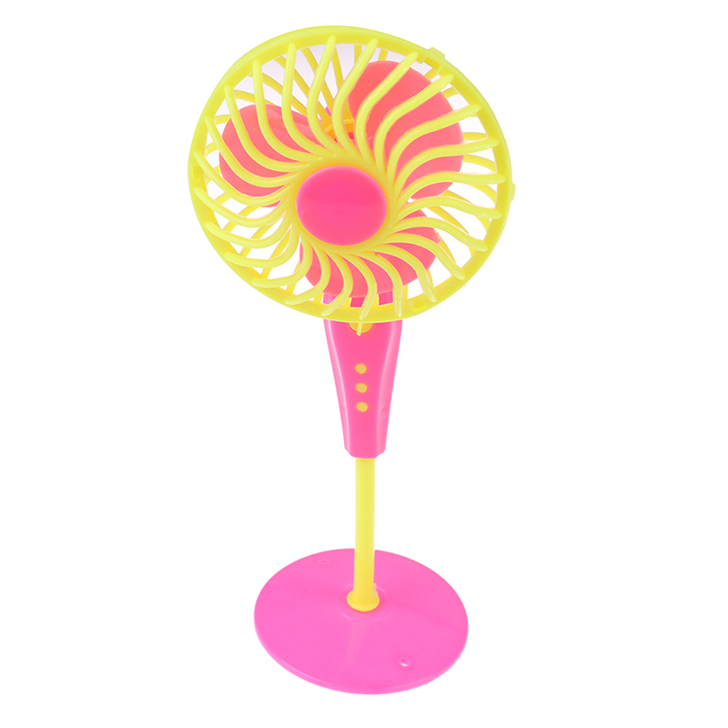 Mini Plastic Fan Doll Furniture Dollhouse For Barbie Dolls Girl Toys Gift Doll Accessories