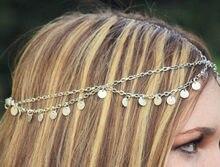 Nueva moda super brillante hoja de onda borla cadena tiara accesorios para el cabello diadema tocado al por mayor