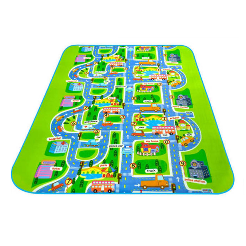 City Road Carpet Toys For Kids Rugs Baby Toys Developing Children's Urban Rail Transportation Game Carpet Eva Baby Play Mats