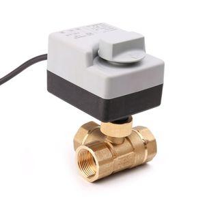 Image 3 - AC220V 3 Weg Elektrische Motorkogelklep Drie Draad Twee Controle Voor Airconditioning