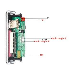 Image 5 - 5V 12V samochodowy armatura samochodu mp3 odtwarzacz Bluetooth płyta dekodera MP3 MP3 czytnik kart MP3 moduł Bluetooth audio akcesoria z radiem FM