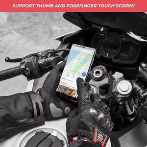 Image 3 - KEMiMOTO Corbon الألياف قفازات جلدية للدراجات النارية تعمل باللمس الدراجات واقية دراجة نارية Luvas دراجة هوائية جبلية Guantes الرجال النساء
