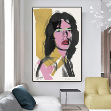 RELIABLI Andy Warhol Poster Mick Jagger Portrait Print Canvas Painting Wall Pictures for Living Room Quadro Home Decor Unframe
