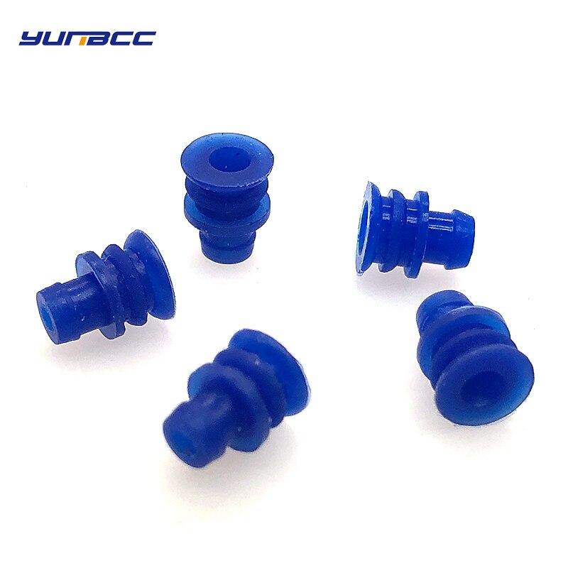 100 pcs Auto Selado 3.5 selos do cabo de série conector de vedação de borracha de silicone à prova d' água para auto elétrica plug