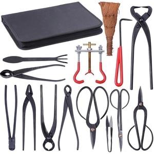 Image 4 - Juego de Herramientas para podar bonsái, cortacésped extensible para jardín, Kit de tijeras acero al carbono con funda de nailon para herramientas de podar de jardín y casa