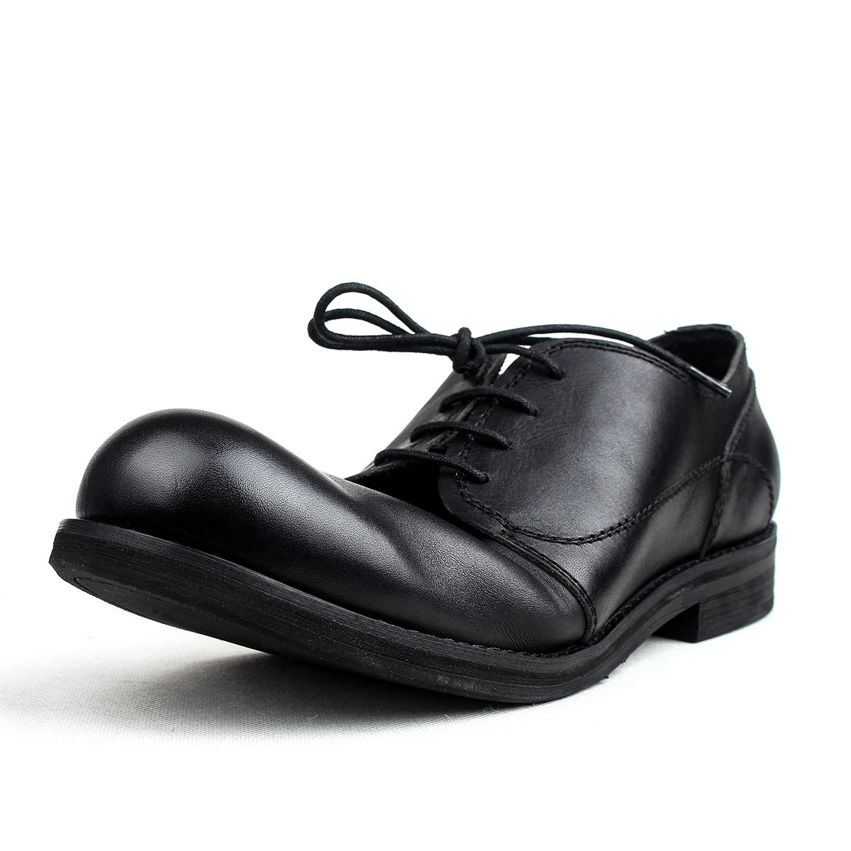 Retro Men's Casual Leather Shoes Big Head Leather Shoes Spring Autumn Men's Shoes