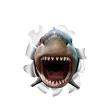 Интересный автомобильный стикер аксессуары 3d открытый рот Акула