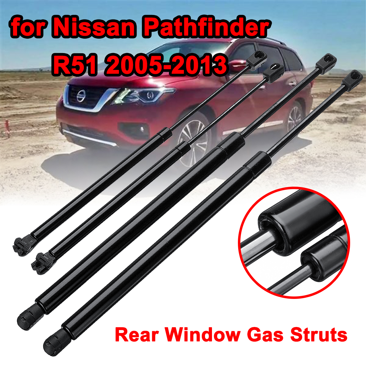 Rear Window Tailgate Boot Gas Struts Support For Nissan Pathfinder R51 2005-2012