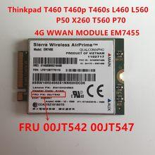 Thinkpad T460 T460p T460s L460 L560 P50 X260 T560 P70 EM7455 Sierra Wireless FDD/TDD LTE 4G WWAN Gobi6000 00JT547 00JT542
