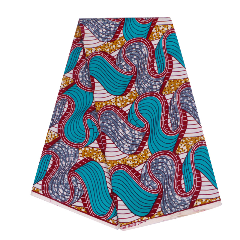 2019 New Fashion African Print Fabric Veritable Ankara Real Guarantee Real Dutch Wax 6Yards