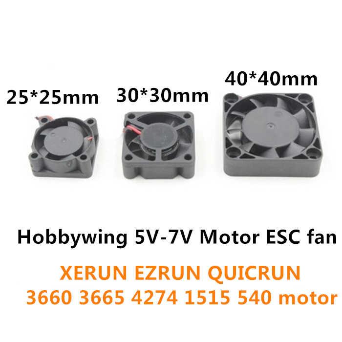 Hobbywing 5V-7V 150A DC Motor ESC fan 25/30/40mm for XERUN EZRUN QUICRUN ESC RC Model parts jst plug