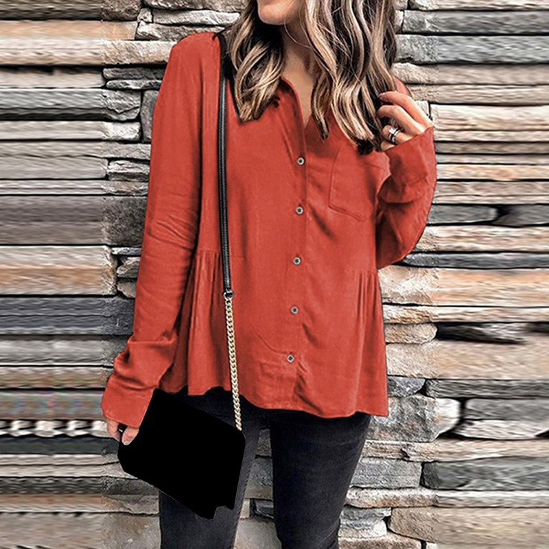 Модная женская однотонная Милая рубашка 2020 новые летние топы для девочек Свободные повседневные женские топы и блузки