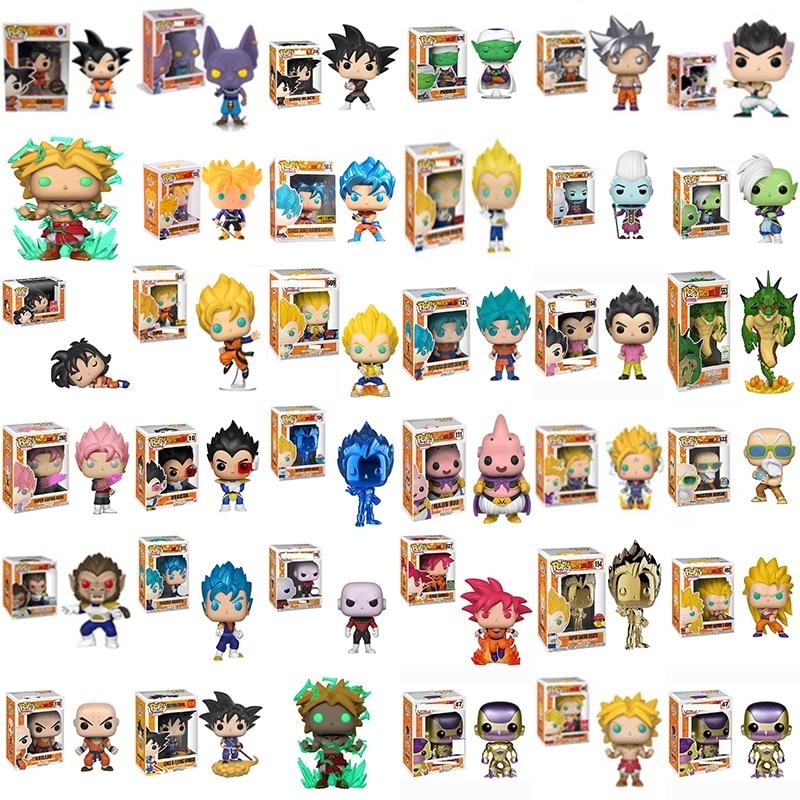 Фигурки героев мультфильма Funko POP Dragon Ball Z Super Saiyan Goku Vegeta, виниловые фигурки героев, коллекционные модели игрушек 2F64