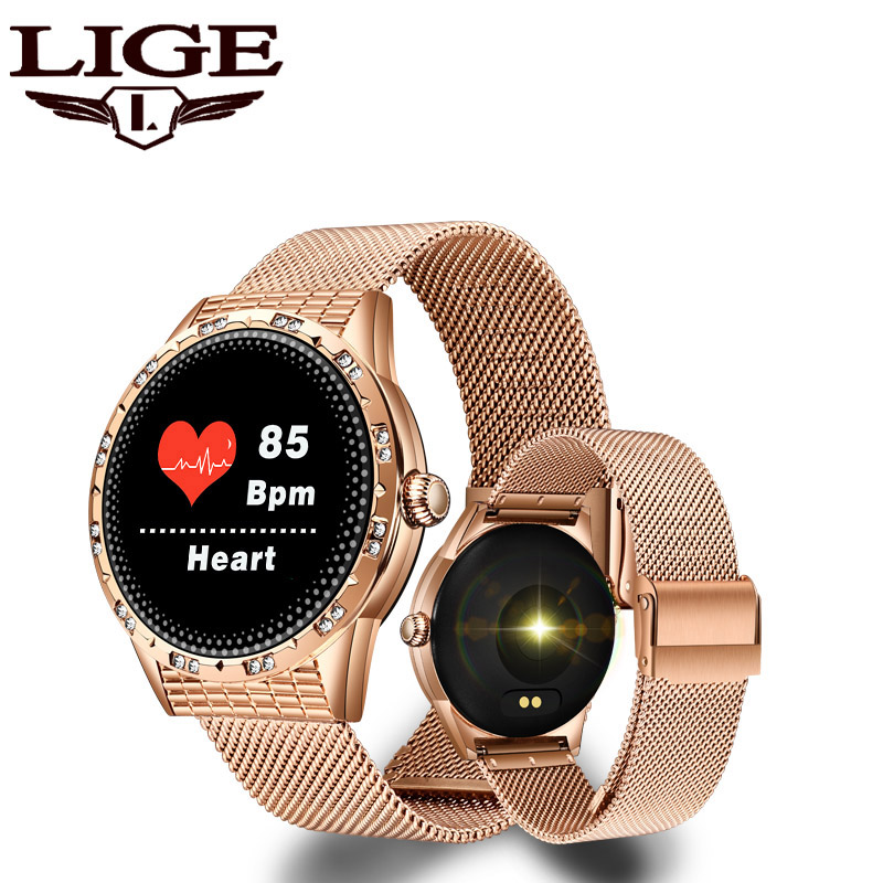 LIGE Sports Smartwatch Fitness-Tracker Running-Heart-Rate-Monitor Bluetooth Women Smart Watch Pedometer For iOS Andriod