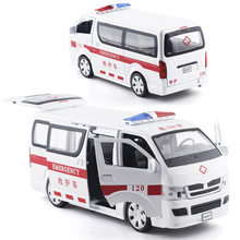 Baosilun 1:32 Sea Lion Big Van Police Car Side Sliding Door Alloy Acousto-Optic Warrior Model Separate(China)