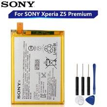 オリジナル交換ソニーのバッテリーソニーのxperia Z5 LIS1605ERPCプレミアムZ5PデュアルE6853 E6883 E6833純正バッテリー3430mah