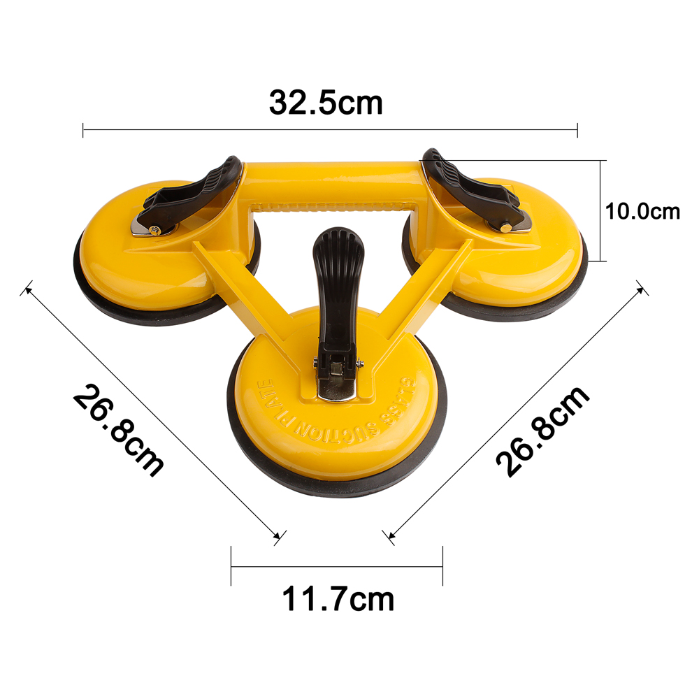 Купить с кэшбэком 2pcs 120kg Vacuum Suction Cup Glass Lifter Suction Double Cups Dent Remover Sucker House Remover Carry Tools Car Suction Cup