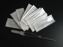 1pc profissional manual tatuagem permanente maquiagem caneta com 50 pçs lâminas frete grátis