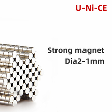 u-ni-ce 500 pcs 2x1mm small super strong magnet powerful rare earth permanent magnets 2 * 1mm