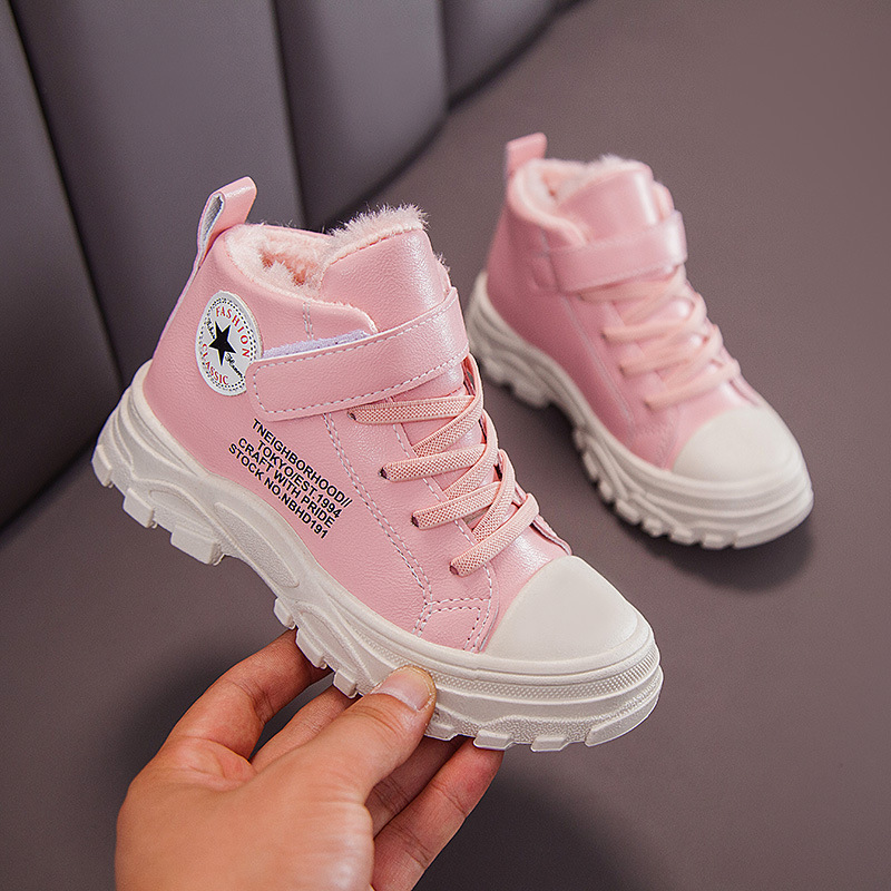 Children Boots Shoes Toddler Baby Girls Boys Winter Snow Boots Shoes Children Warm Sneaker Snow Boots Children Kids Baby Shoes
