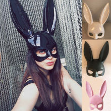 Сексуальная маска с кроличьими ушками, маска с кроличьими ушками для девочек, костюм для вечеринок и маскарадов, цветочный костюм, Хэллоуин костюм фантазии, Маскарадная маска