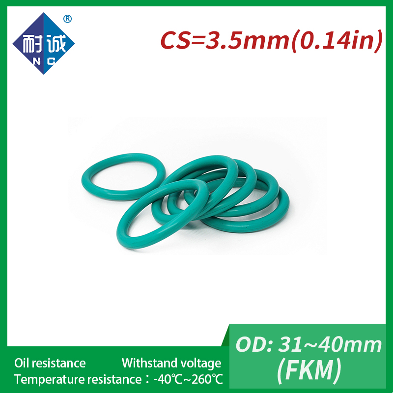 uxcell/® 50pcs 13mm x 1.9mm Size Mechanical Rubber O Ring Oil Seal Gaskets Green