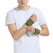 1Pair/lot  Adjustable Wristband Wrist Support Protection Elastic Wrapped Weightlifting Bandage Breathable
