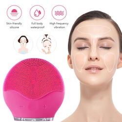 Elektrische Vibration Gesichts Reinigung Pinsel Haut Entfernen Mitesser Poren Reiniger Wasserdichte Silikon Gesicht Massager