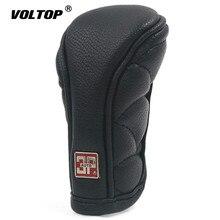 Pookknop Cap Cover Gears voor Decoraties Auto Anti slip Rits Sluiting Auto Pookknop Cover Zwart