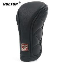 Shift Knob כובע כיסוי הילוכים עבור קישוטי אוטומטי אנטי להחליק רוכסן סגירת רכב Gear Shift Knob כיסוי שחור
