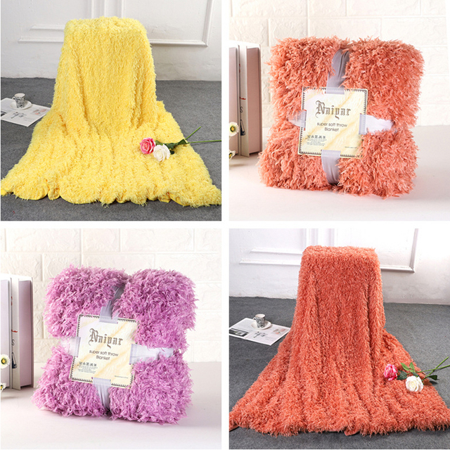 2019 New Super Soft Shaggy Decorative Background Blanket Long Shaggy Fuzzy  Elegant Cozy With Fluffy  Bed Sofa Bedspread Sheet