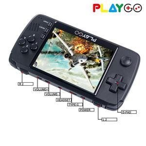 Image 3 - WOLSEN Playgo a amélioré 3.5 pouces IPS rétro Console de jeu vidéo portable intégrée 16GB carte SD 64 bits émulateur console pour PS1 GBA