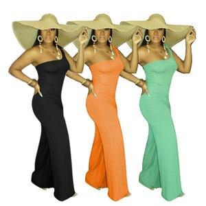 Kombinezon damski 2020 nowy letni jednolity kolor seksowny elegancki pasek na ramię temperament kobieta kombinezon styl uliczny
