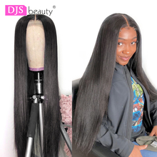 Straight Lace Front Human Hair Wigs For Women Remy Hair Pre Plucked Hairline With Baby Hair Brazilian Lace Wig Human Hair Wig cheap DJSbeauty Medium Lace Front wigs BR(Origin) Half Machine Made Half Hand Tied Darker Color Only Swiss Lace 1 Piece Only