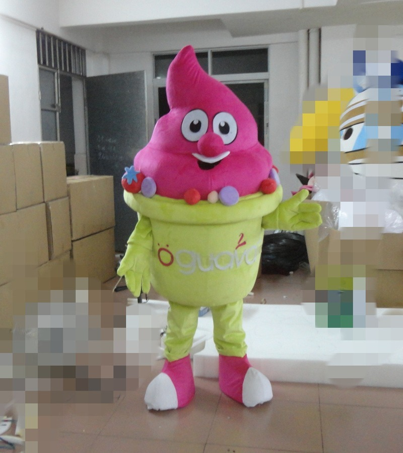 Halloween Ice Cream Mascot Costume Cosplay Party Game Dress Clothing Advertising Interesting Apparel Cartoon Character Clothes