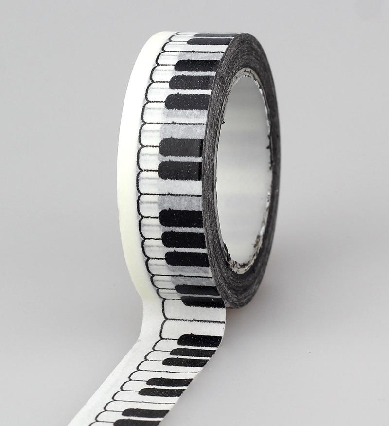 10pcs/lot Decorative Piano Key Washi Tapes Paper DIY Scrapbooking Planner Adhesive Masking Tapes Kawaii Stationery