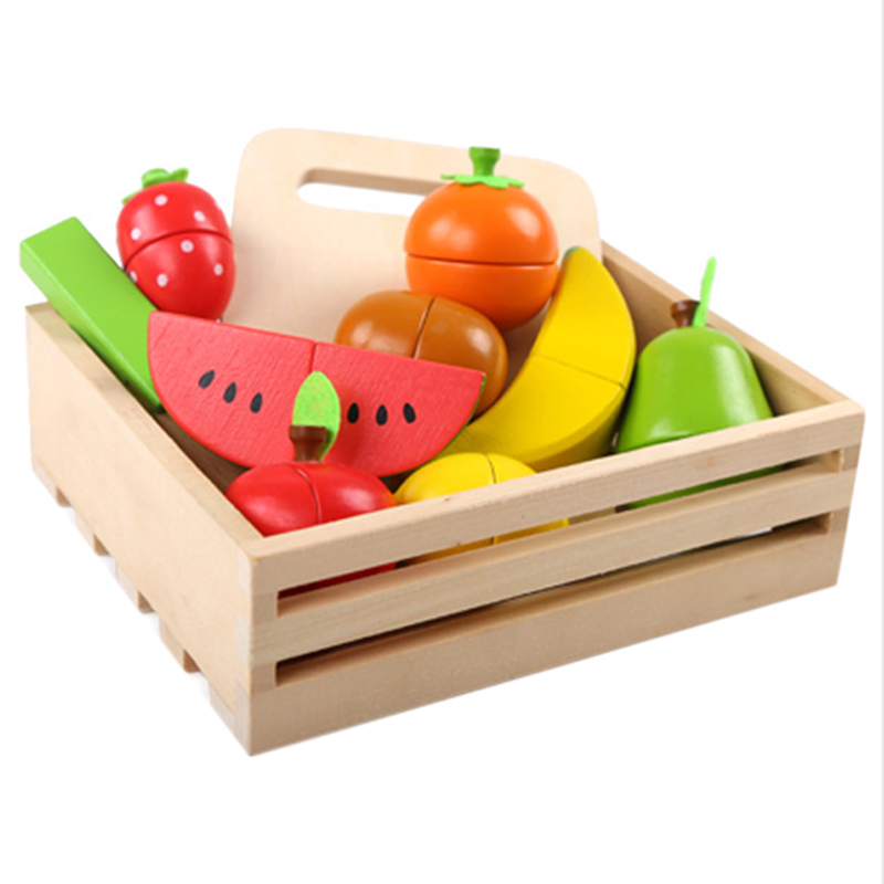 Learning Educational Wooden Toys Fruit Cut Educational Wooden Toys