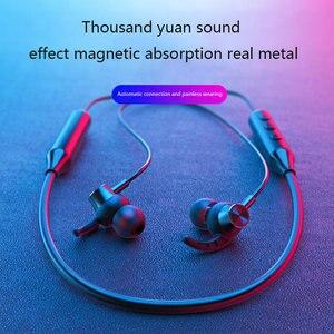 Image 2 - Kablosuz kulaklık boyun asılı spor kulaklık Bluetooth 5.0 kulaklık akıllı telefon Tablet kulaklık, kırmızı