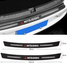Cauda do carro tronco traseiro amortecedor protetor de fibra carbono adesivo para mitsubishi lancer 10 3 9 ex outlander 3 asx l200 acessórios