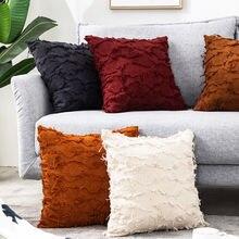 Из хлопка и льна для подушек 45x45cm Хризантема патч подушка