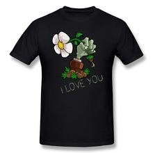 Plants Vs Zombies T Shirt Plants Vs Zombies I Love You T-Shirt Graphic Summer Tee Shirt Oversized 100 Percent Cotton Tshirt t shirt chicco size 086 flower i love you pink